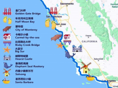 加州一号公路 – 山与海的邂逅 (一)